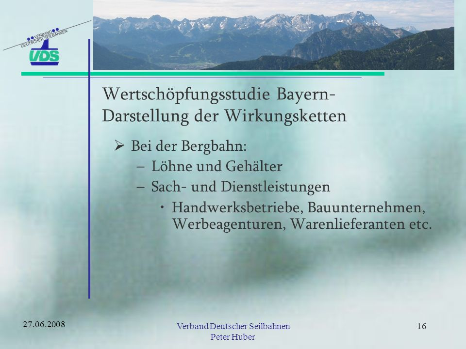 Wertschöpfungsstudie Bayern- Darstellung der Wirkungsketten