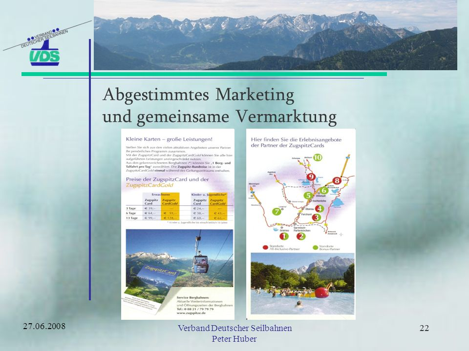 Abgestimmtes Marketing und gemeinsame Vermarktung