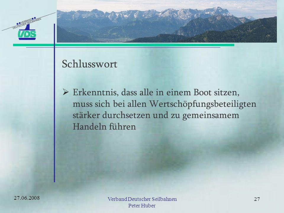 Verband Deutscher Seilbahnen Peter Huber