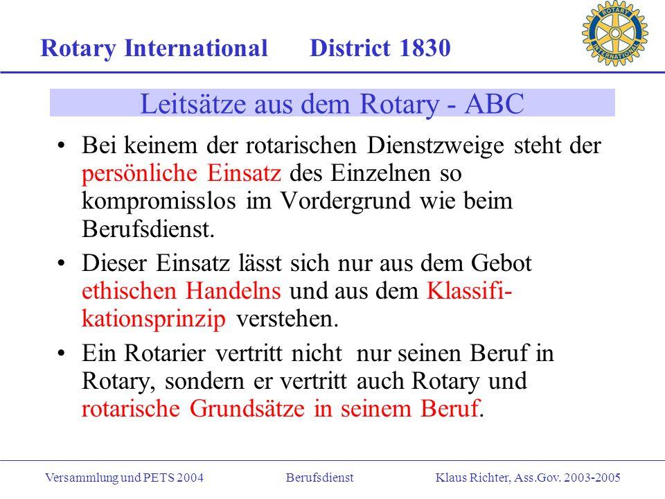 Leitsätze aus dem Rotary - ABC
