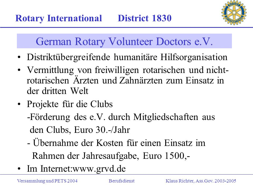 German Rotary Volunteer Doctors e.V.