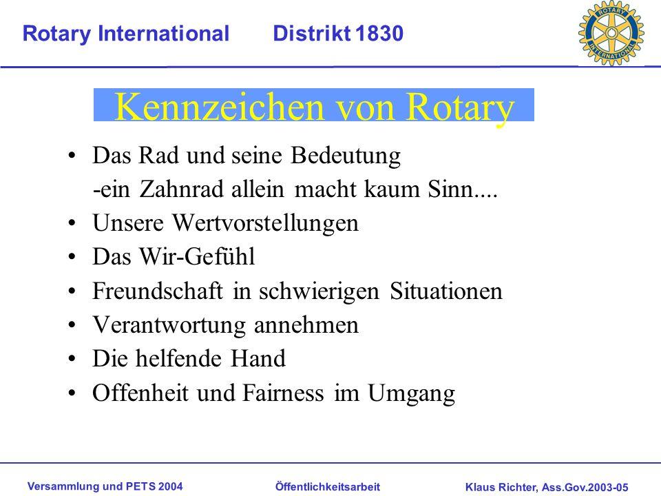 Kennzeichen von Rotary