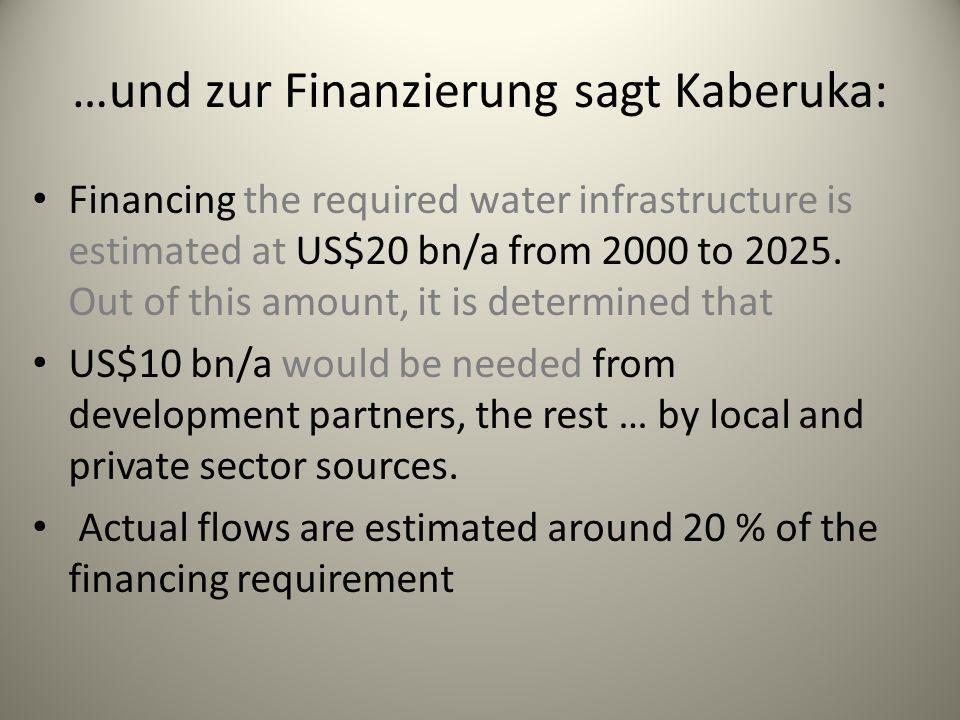 …und zur Finanzierung sagt Kaberuka: