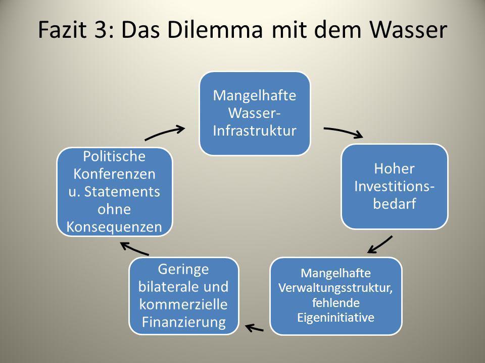 Fazit 3: Das Dilemma mit dem Wasser