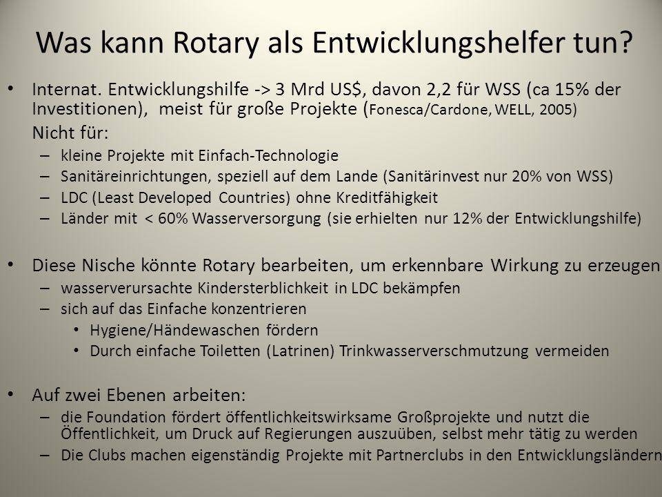 Was kann Rotary als Entwicklungshelfer tun