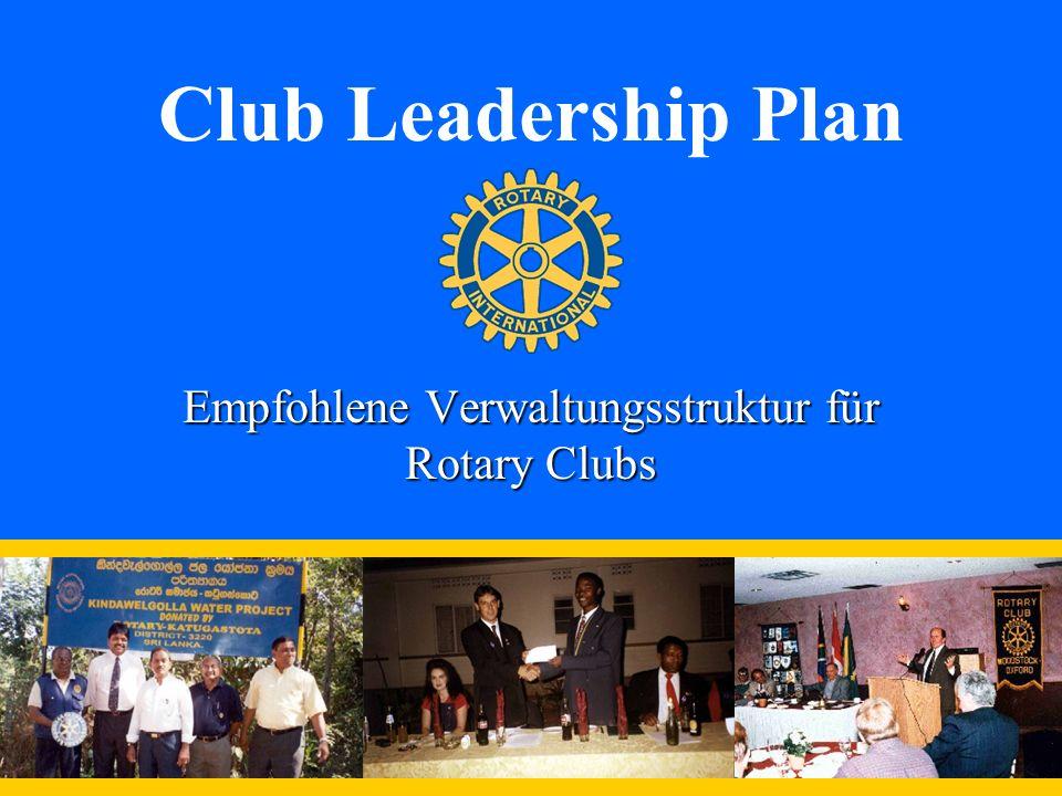 Empfohlene Verwaltungsstruktur für Rotary Clubs