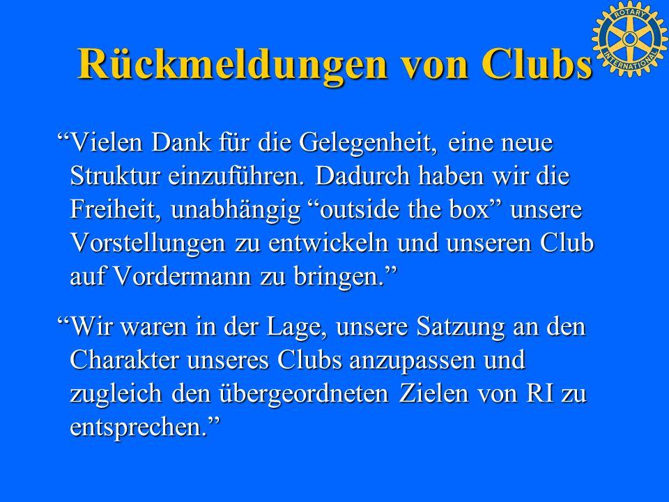 Rückmeldungen von Clubs