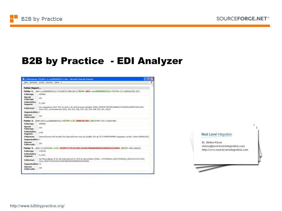 B2B by Practice - EDI Analyzer