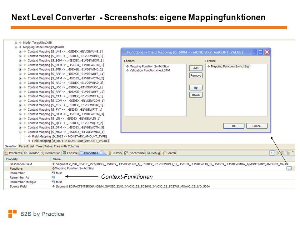 Next Level Converter - Screenshots: eigene Mappingfunktionen