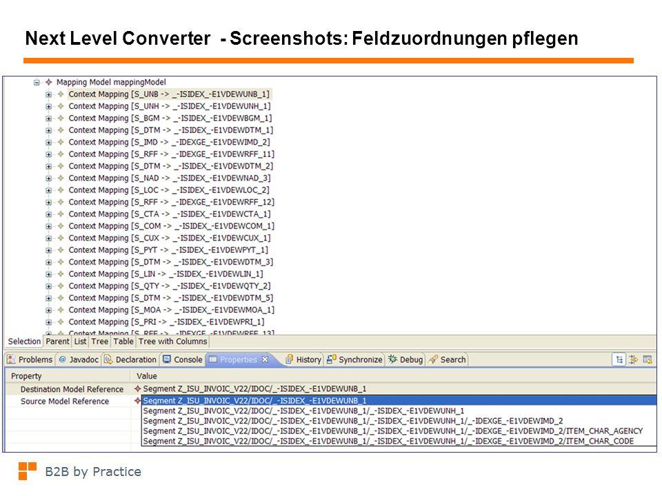 Next Level Converter - Screenshots: Feldzuordnungen pflegen