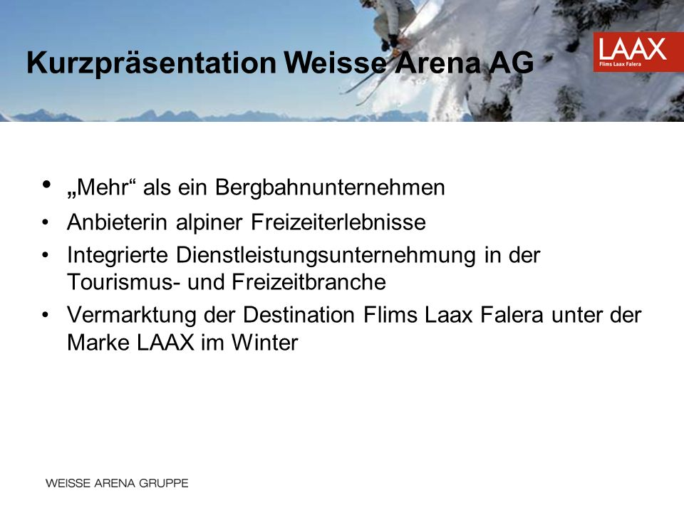 Kurzpräsentation Weisse Arena AG