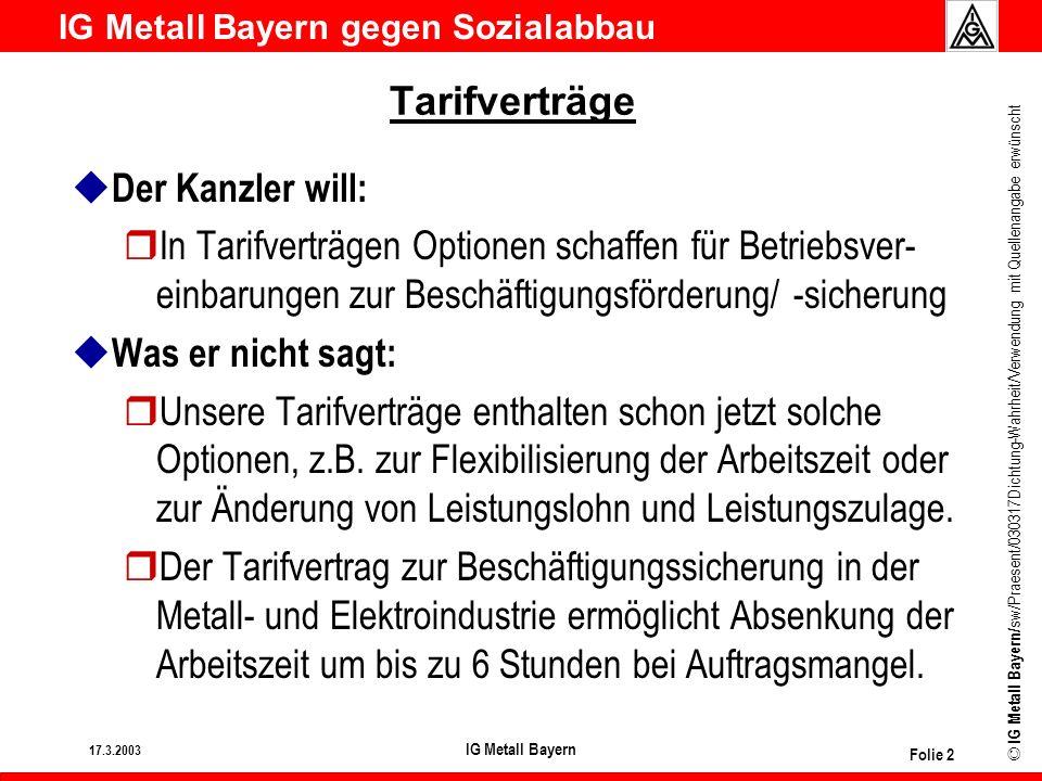 Tarifverträge Der Kanzler will: