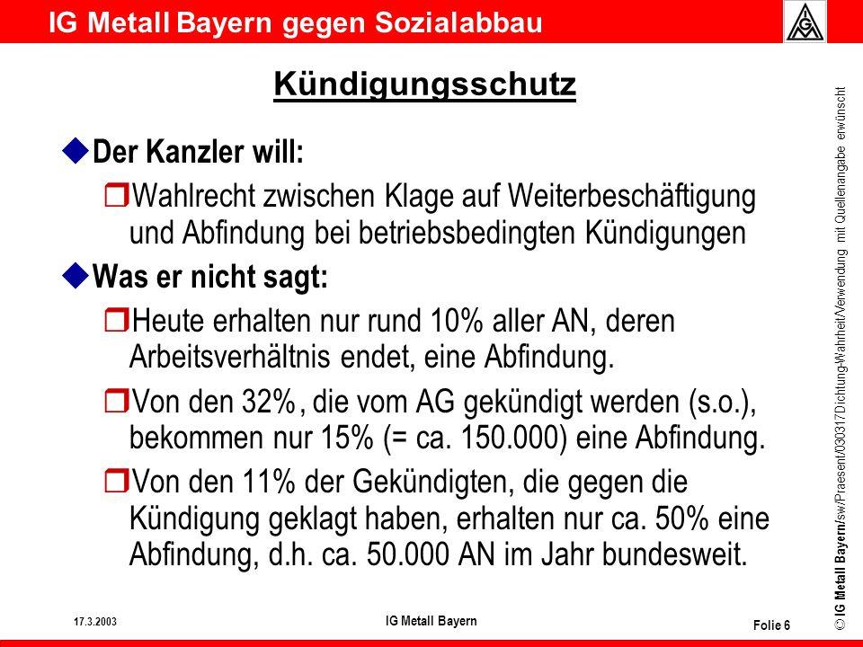 Kündigungsschutz Der Kanzler will: