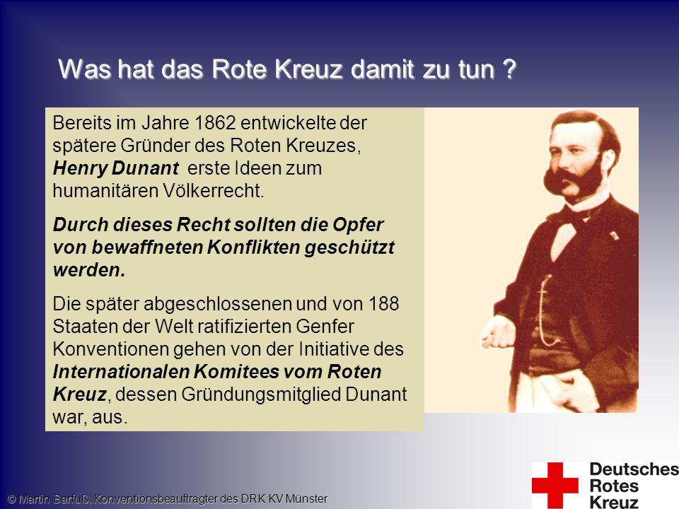 Was hat das Rote Kreuz damit zu tun