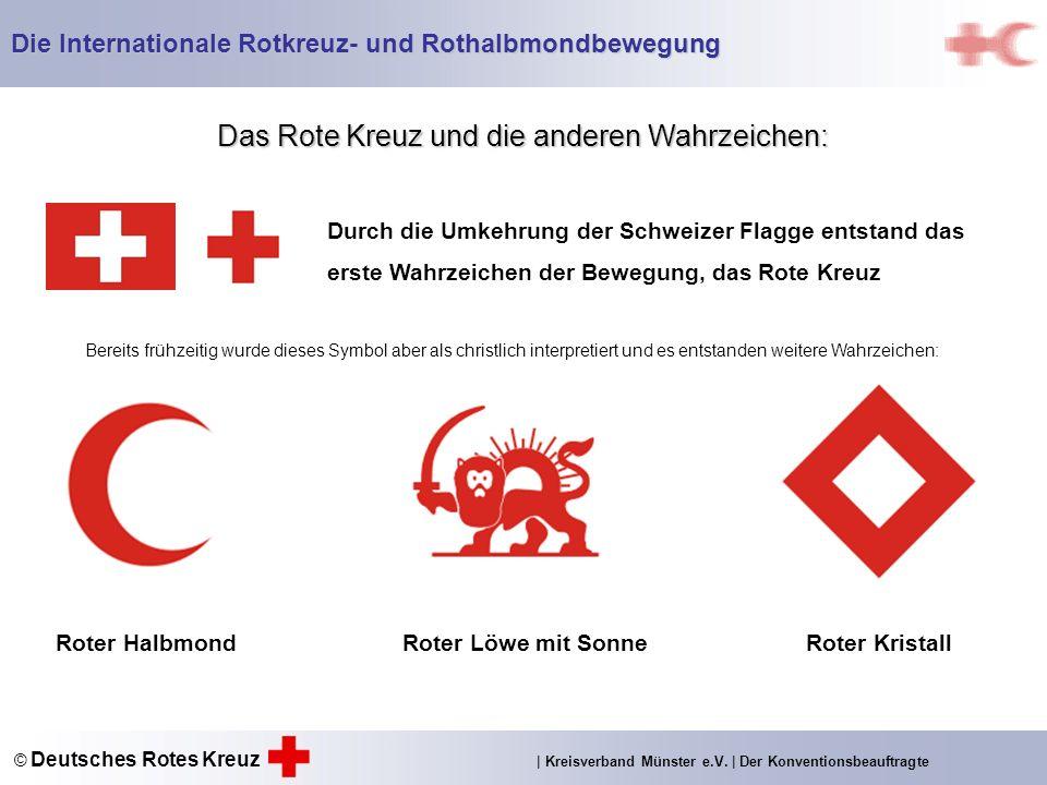 Das Rote Kreuz und die anderen Wahrzeichen: