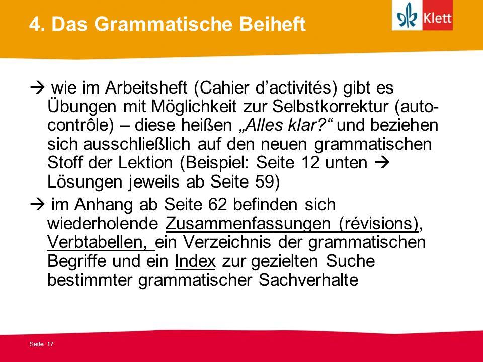 4. Das Grammatische Beiheft