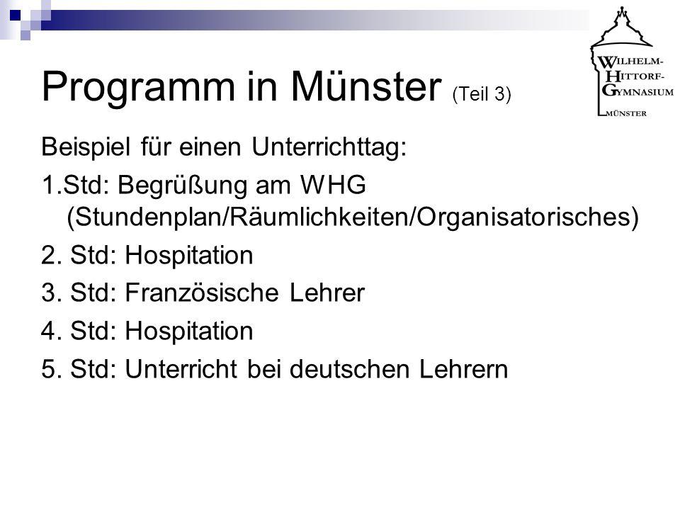 Programm in Münster (Teil 3)