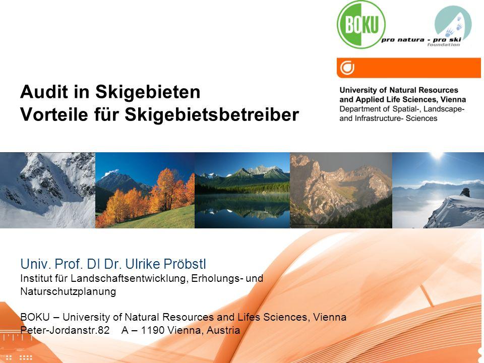 Audit in Skigebieten Vorteile für Skigebietsbetreiber.