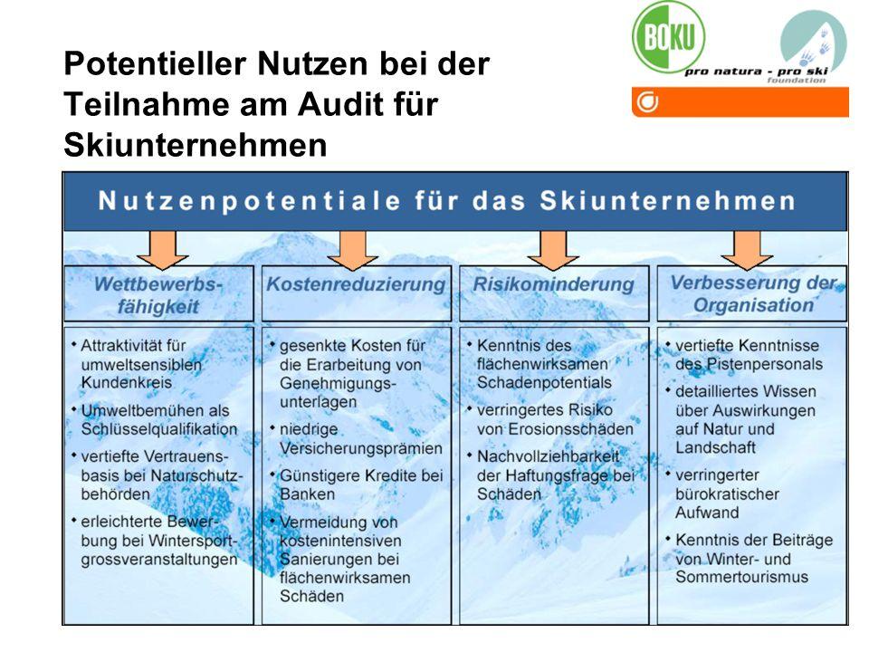 Potentieller Nutzen bei der Teilnahme am Audit für Skiunternehmen