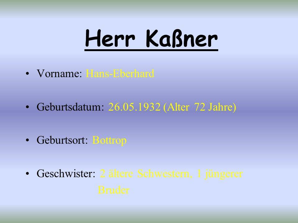 Herr Kaßner Vorname: Hans-Eberhard