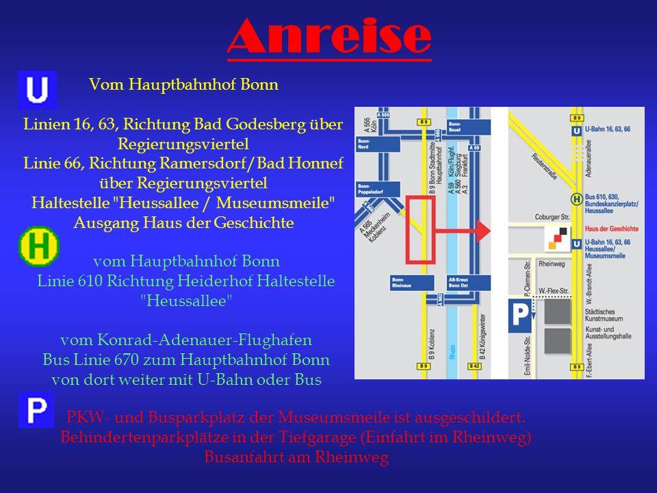 Anreise Vom Hauptbahnhof Bonn