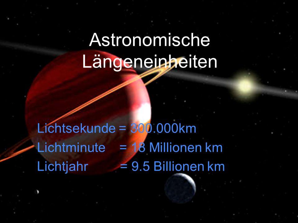 Astronomische Längeneinheiten