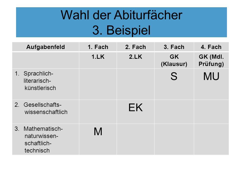 Wahl der Abiturfächer 3. Beispiel
