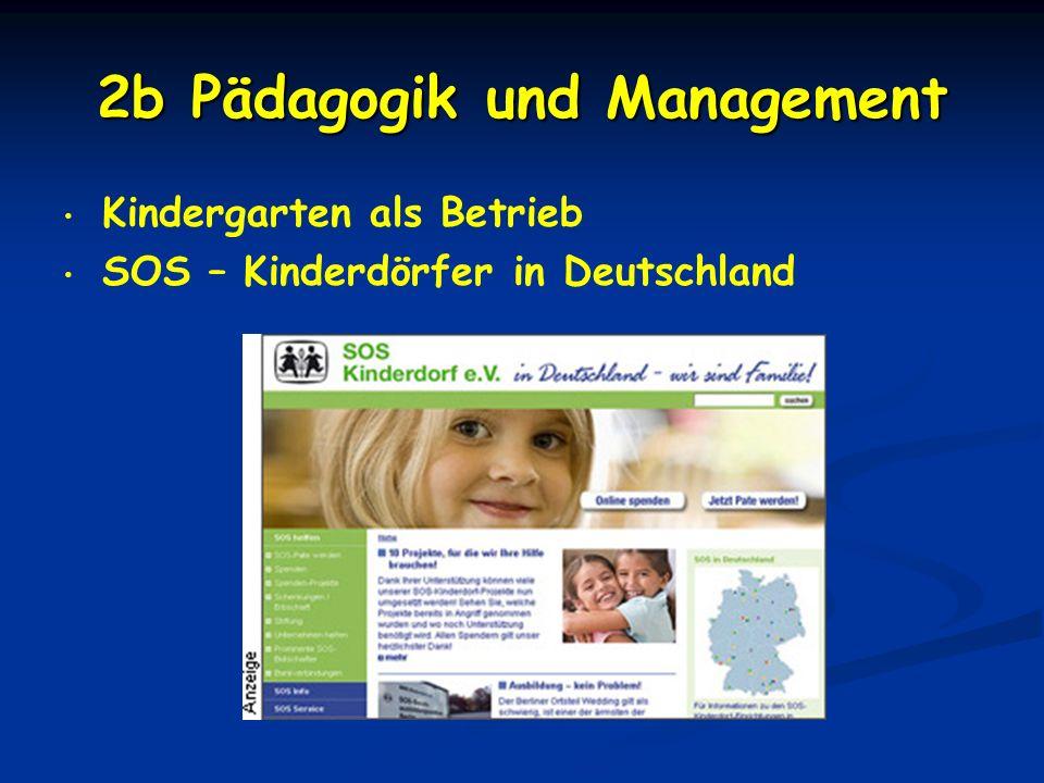 2b Pädagogik und Management