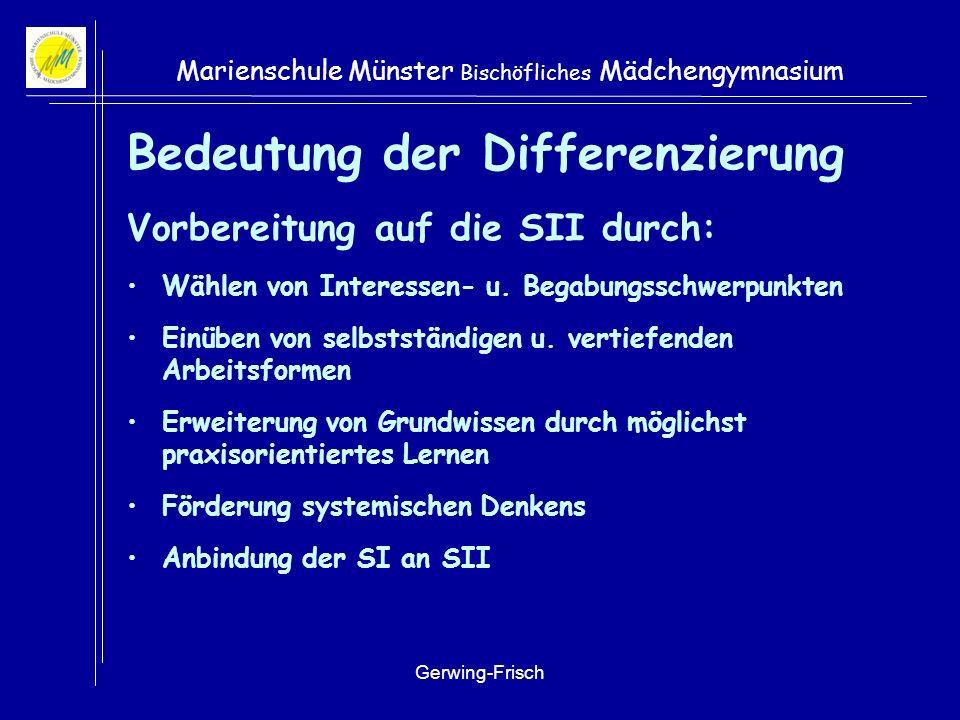 Bedeutung der Differenzierung