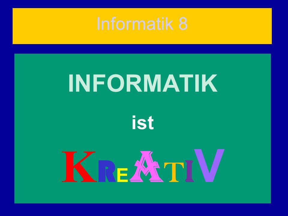 Informatik 8 INFORMATIK ist KREATIV
