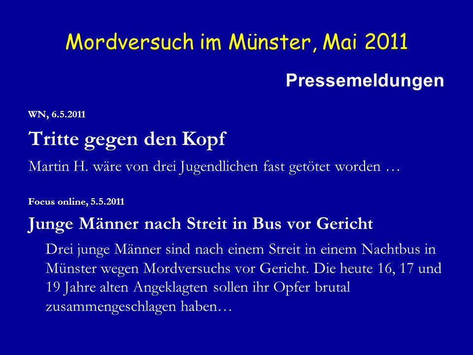 Mordversuch im Münster, Mai 2011