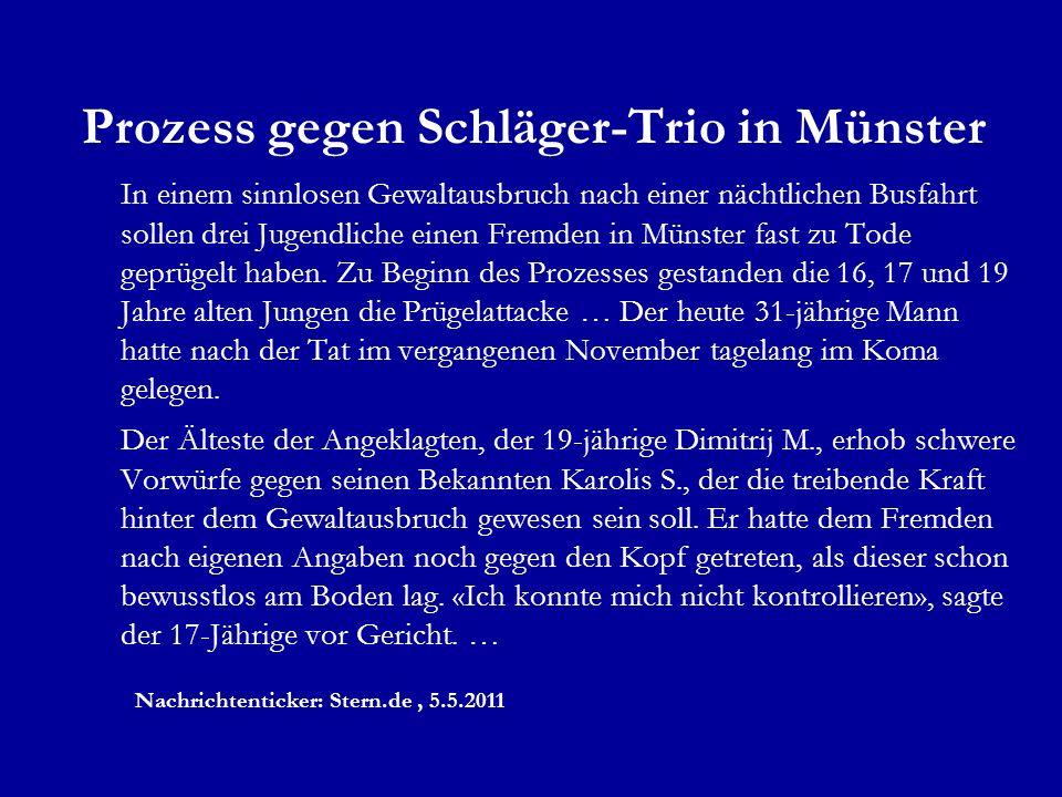 Prozess gegen Schläger-Trio in Münster