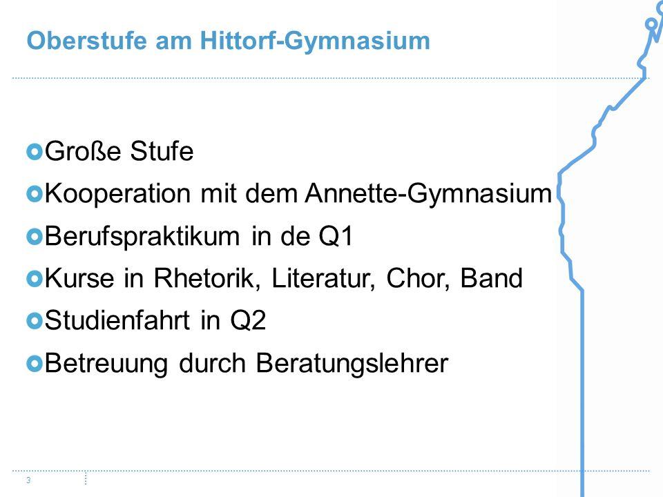 Kooperation mit dem Annette-Gymnasium Berufspraktikum in de Q1