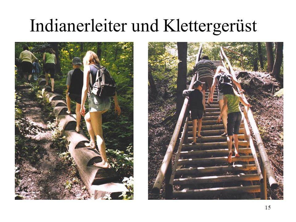 Indianerleiter und Klettergerüst