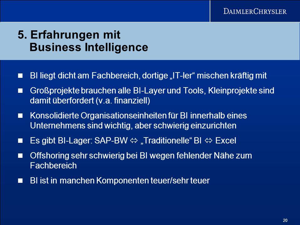 5. Erfahrungen mit Business Intelligence