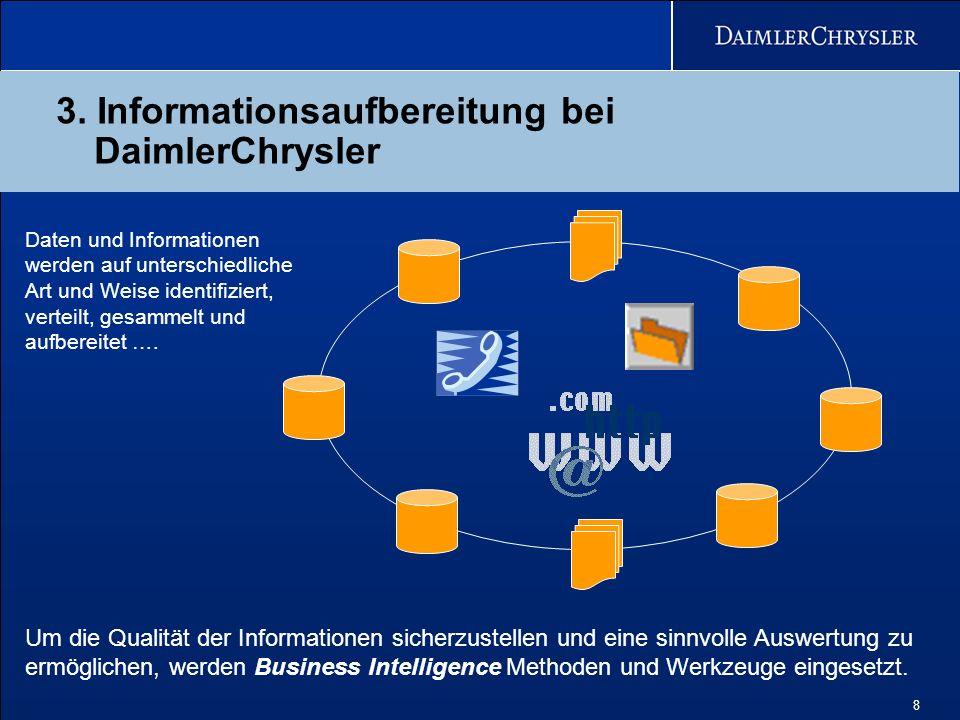 3. Informationsaufbereitung bei DaimlerChrysler