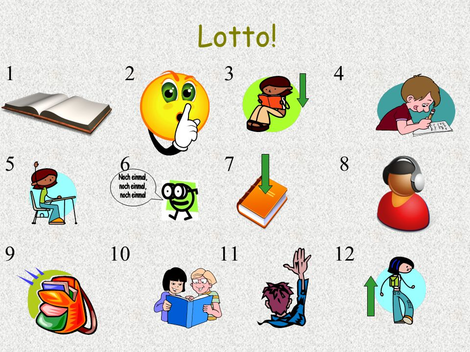 Lotto!2 3 4. 5 6 7 8.