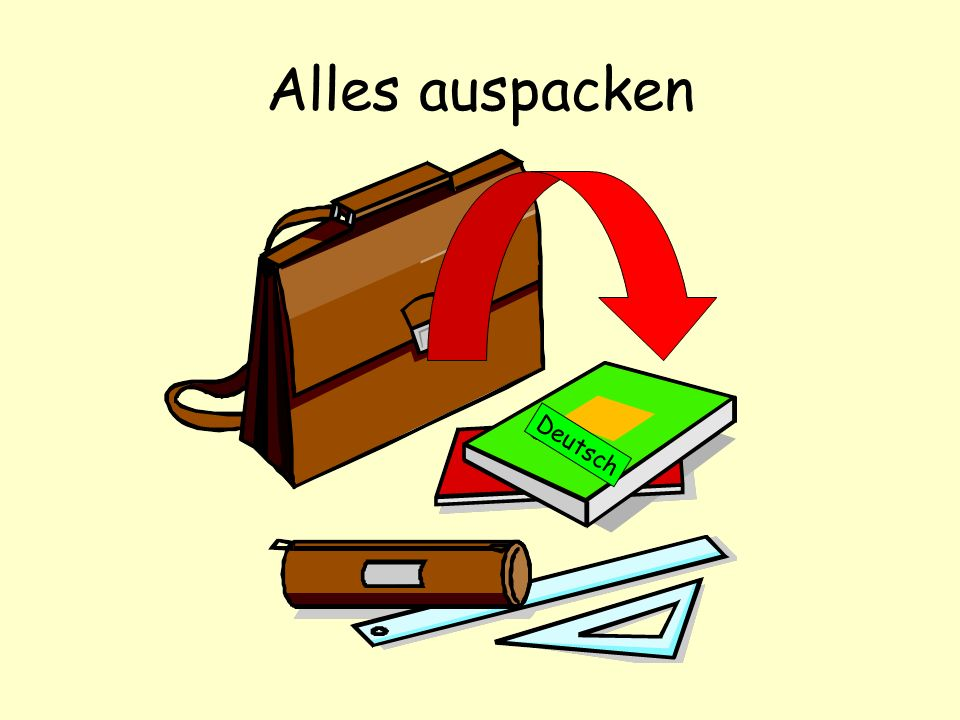 Alles auspacken Deutsch