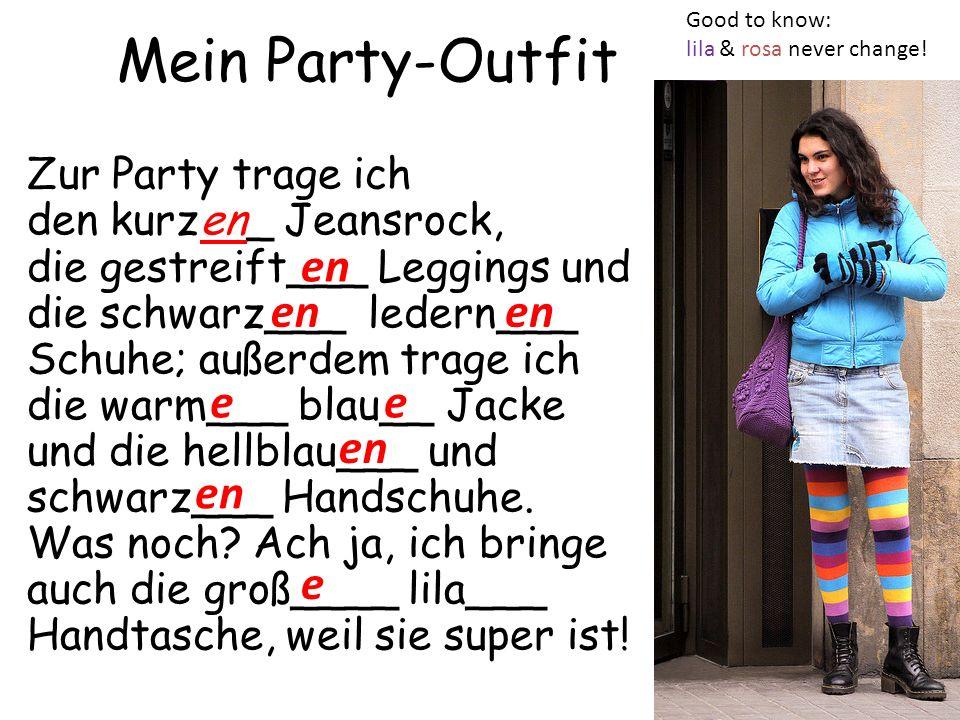 Mein Party-Outfit en en en e e en en e
