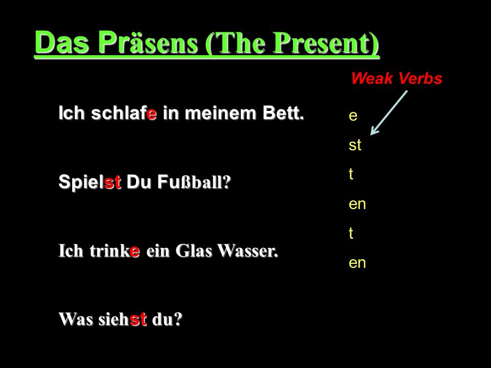 Das Präsens (The Present)