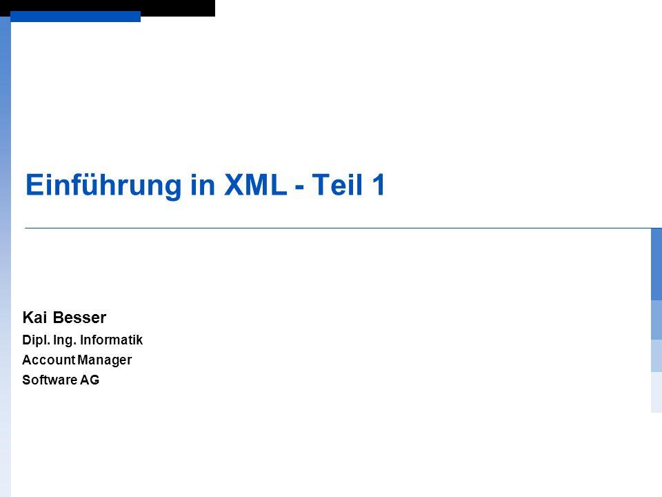 Einführung in XML - Teil 1