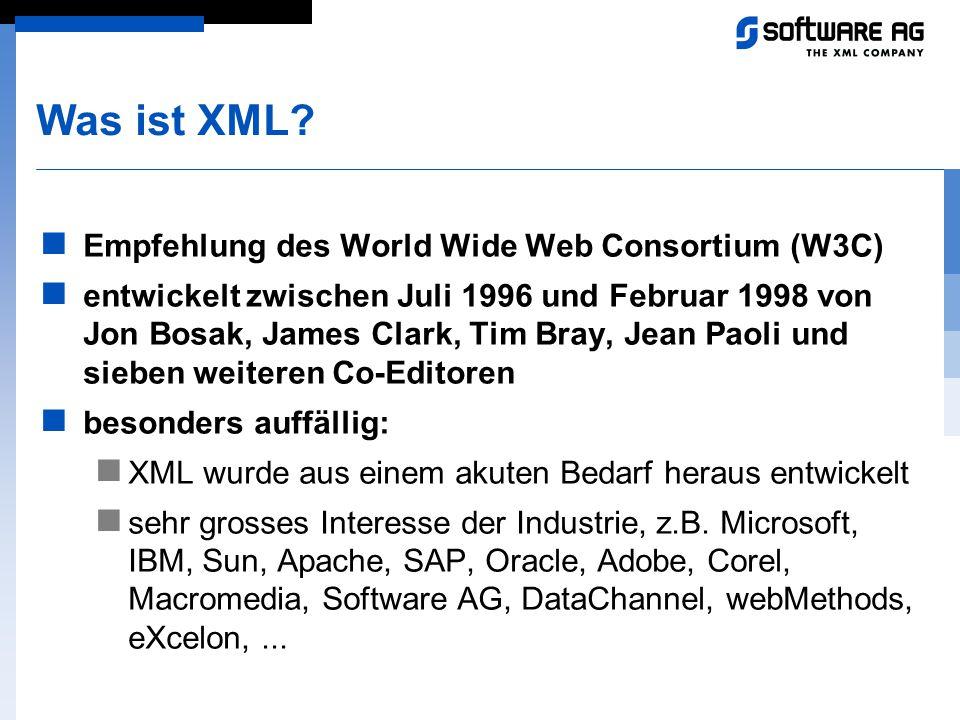 Was ist XML Empfehlung des World Wide Web Consortium (W3C)