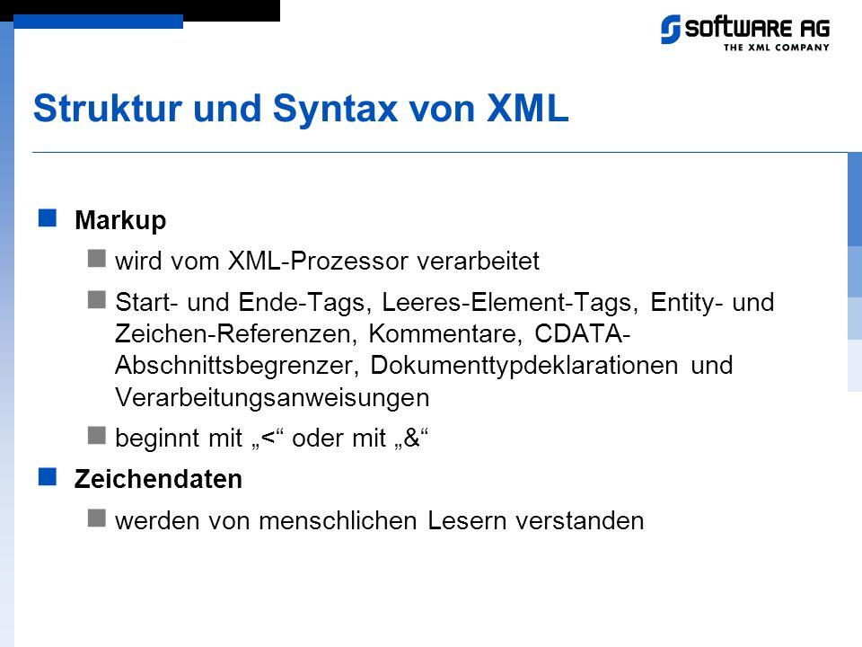 Struktur und Syntax von XML
