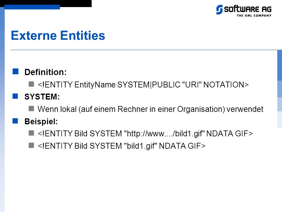 Externe Entities Definition: