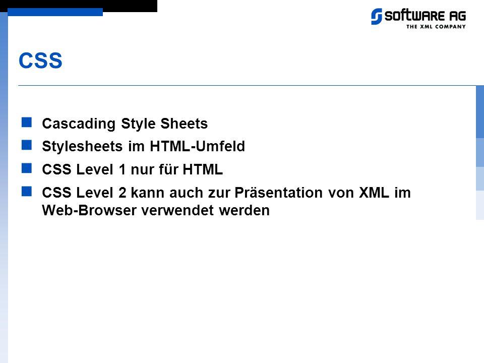 CSS Cascading Style Sheets Stylesheets im HTML-Umfeld
