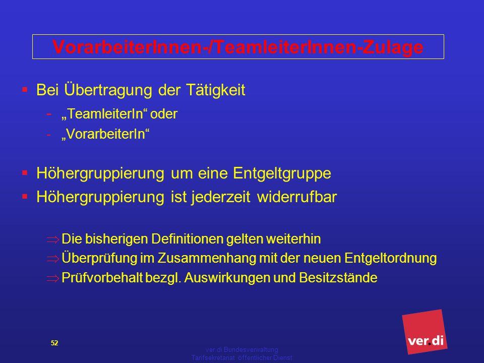 VorarbeiterInnen-/TeamleiterInnen-Zulage