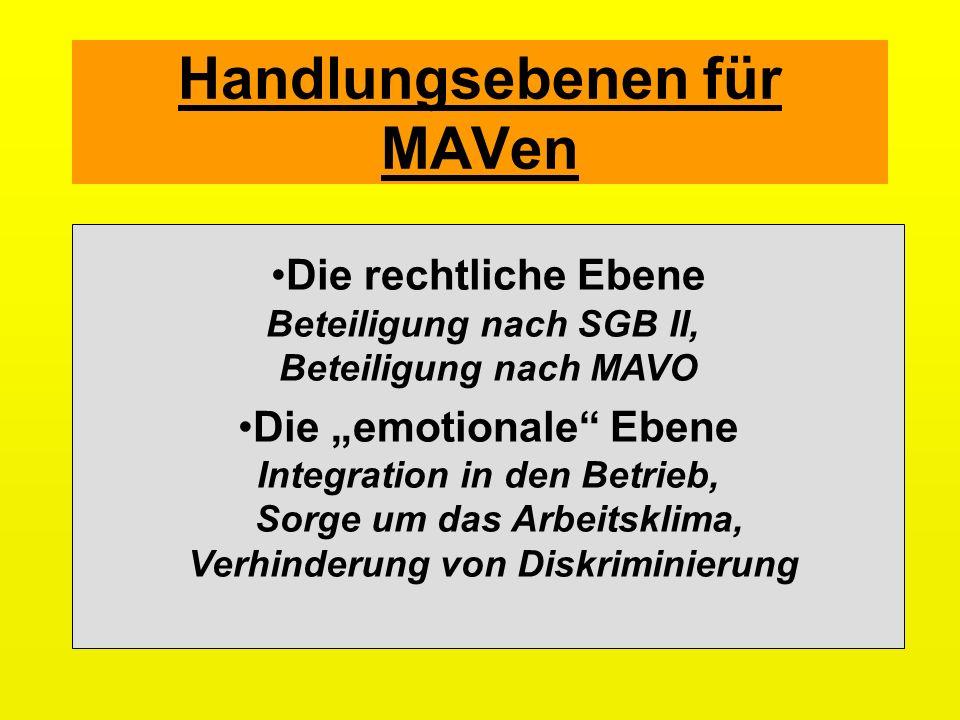 Handlungsebenen für MAVen