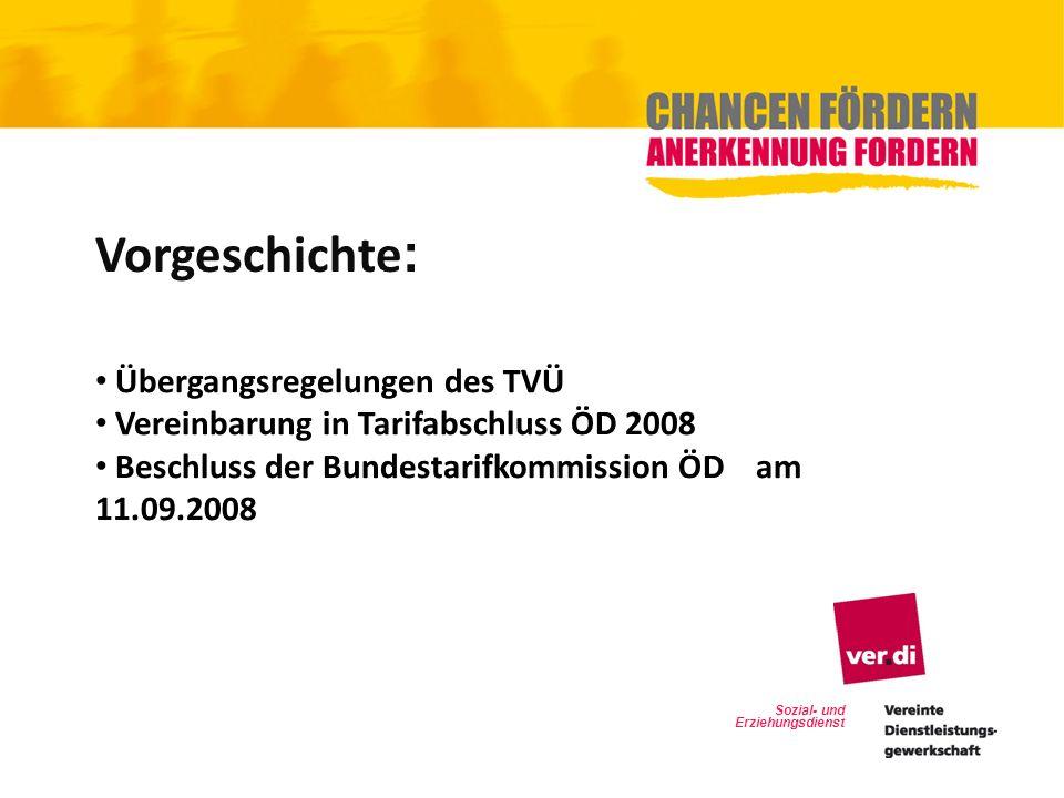 Vorgeschichte: Übergangsregelungen des TVÜ