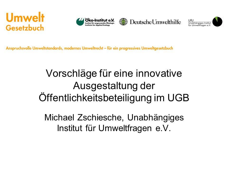 Michael Zschiesche, Unabhängiges Institut für Umweltfragen e.V.