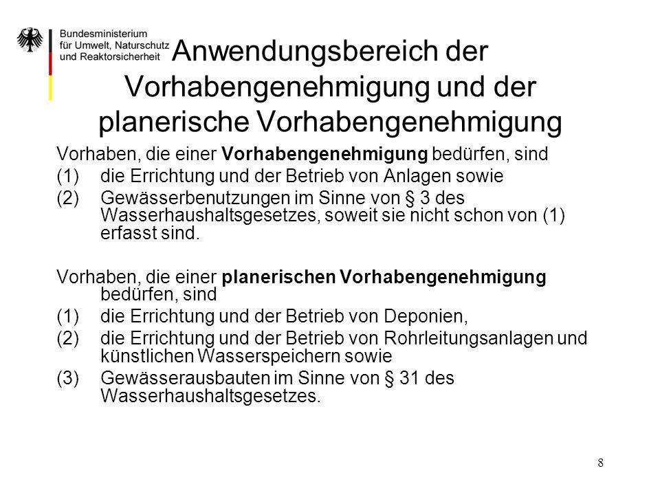 Anwendungsbereich der Vorhabengenehmigung und der planerische Vorhabengenehmigung